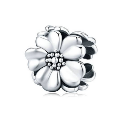 925 Sterling Silver Three Flower SpacerPandora Compatible Bead Charm