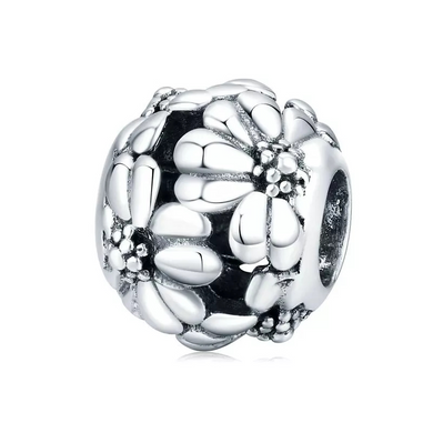 925 Sterling Silver Plain Daisy Pandora Compatible Charm