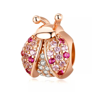Rose Gold Plated Ladybug Pandora Compatible Charm