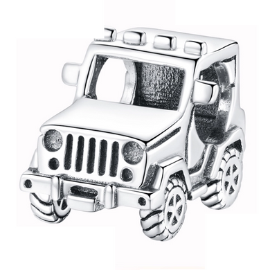 925 Sterling Silver Jeep Pandora Compatible Bead Charm
