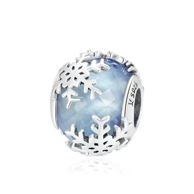 925 Sterling Silver Snowflake Pandora Compatible Charm