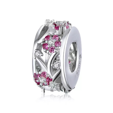 925 Sterling Silver Blossom Pandora Compatible Spacer