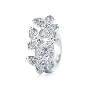 925 Sterling Silver Butterfly Pandora Compatible Spacer/Stopper