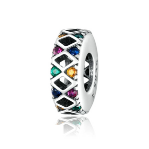 925 Sterling Rainbow CZ Pandora Compatible Spacer
