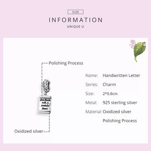 925 Sterling Silver Give Thanks Pandora Compatible Dangle Charm