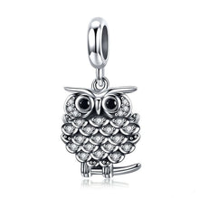 Load image into Gallery viewer, .925 Sterling Silver OWL dangle Charm