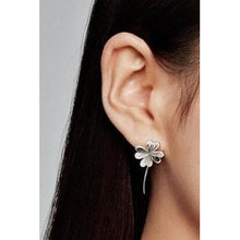 Load image into Gallery viewer, 925 Sterling Silver Clover Drop Earrings