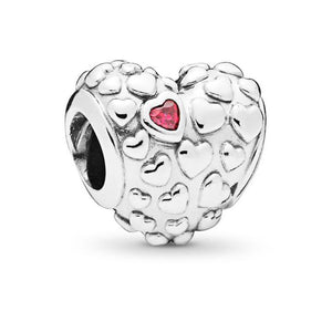 925 Sterling Silver MOM IN A MILLION Heart Pandora Compatible Bead Charm