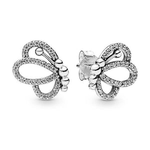 925 Sterling Silver Butterfly Stud Earrings