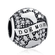 Load image into Gallery viewer, 925 Sterling Silver DOG MOM Pandora Compatible Dangle Charm
