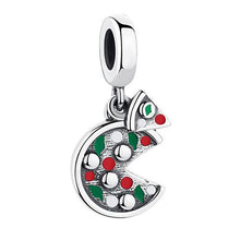 Load image into Gallery viewer, 925 Sterling Silver Pizza Pandora Compatible Dangle Charm