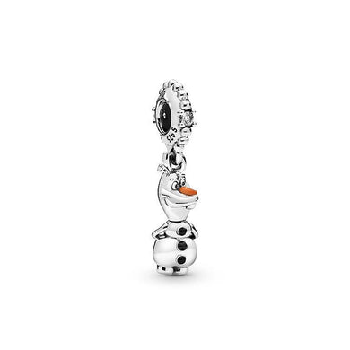 925 Sterling Silver Olaf Frozen Pandora Compatible Dangle Charm