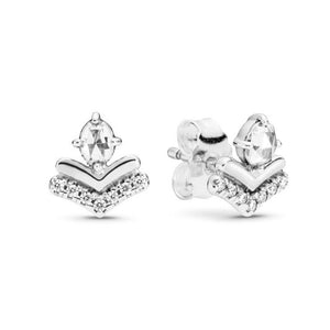 925 Sterling Silver CZ Classic Stud Earrings