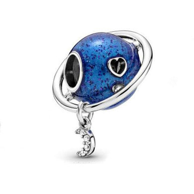 925 Sterling Silver Planet Pandora Compatible Charm