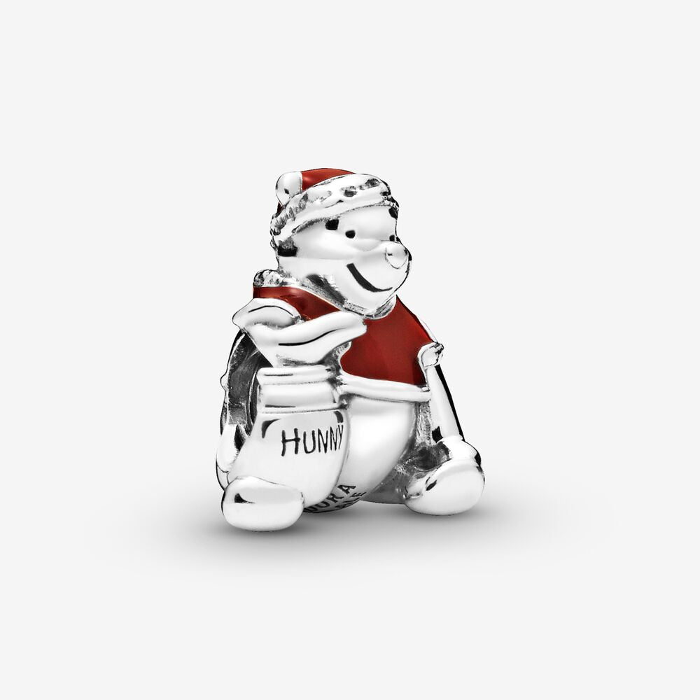 925 Sterling Silver Disney Winnie the Pooh Christmas Pandora Compatible Bead Charm