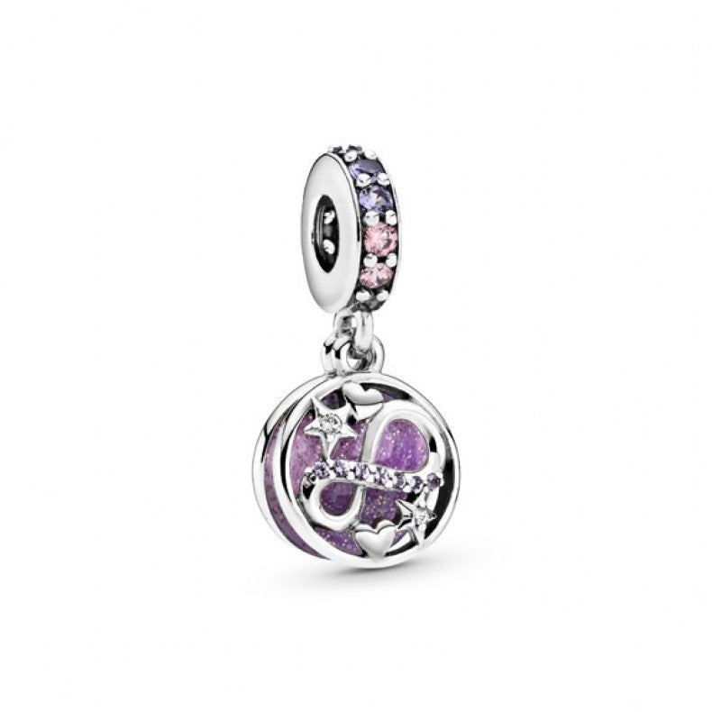 925 Sterling Silver Glittering Infinity Pandora Compatible Dangle Charm