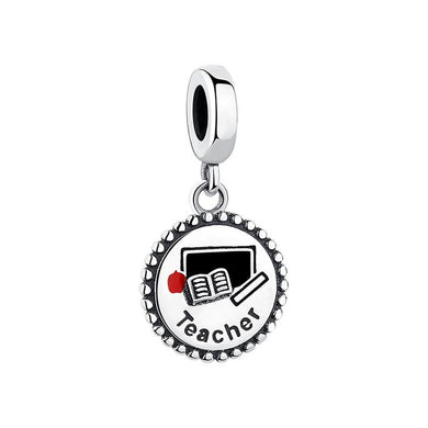 925 Sterling Silver Teacher Pandora Compatible Dangle Charm