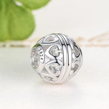 Load image into Gallery viewer, 925 Sterling Silver Openwork Impression Pandora Compatible Bead Charm