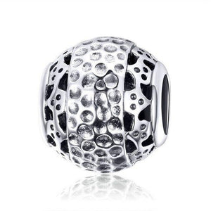 925 Sterling Silver Double Layer Honeycomb Pandora Compatible Bead Charm