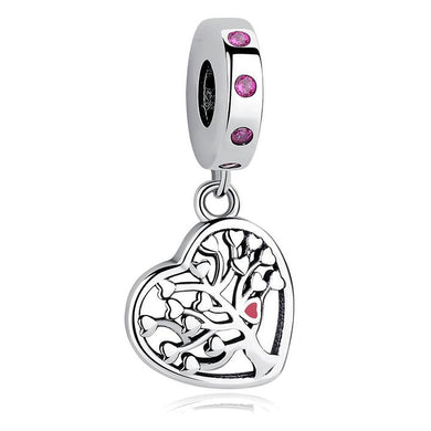 925 Sterling Silver Family Tree Pandora Compatible Dangle Charm