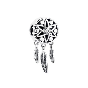 925 STERLING SILVER  Dream Catcher Charm