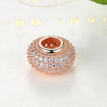 Load image into Gallery viewer, Rose Gold Plated All About the Bling Pandora Compatible Spacer
