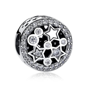 925 Sterling Silver CZ Multi Star Pandora Compatible Bead Charm