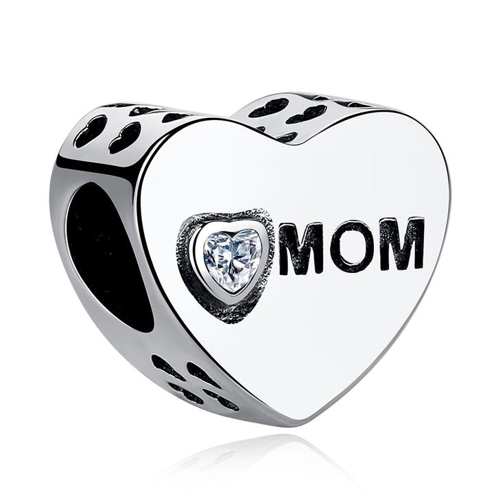 925 STERLING SILVER Mom Love Charm