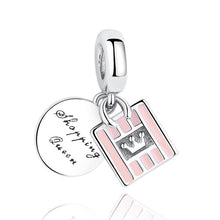 Load image into Gallery viewer, 925 STERLING SILVER Shopping Queen Charm