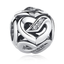 Load image into Gallery viewer, 925 STERLING SILVER Hollow Heart Charm