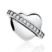 Load image into Gallery viewer, 925 Sterling Silver Galaxy Heart Pandora Compatible Bead Charm