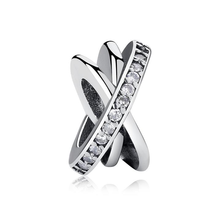 925 Sterling Silver Galaxy Pandora Compatible Spacer
