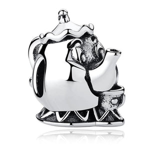 925 Sterling Silver Mrs Potts Pandora Compatible Bead Charm
