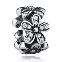 Load image into Gallery viewer, 925 Sterling Silver CZ Daisy Pandora Compatible Spacer