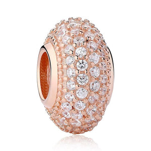 Rose Gold Plated All About the Bling Pandora Compatible Spacer