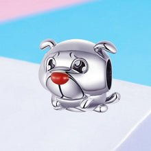 Load image into Gallery viewer, 925 Sterling Silver Cute French Bulldog Pandora Compatible Bead Charm