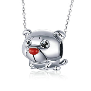 925 Sterling Silver Cute French Bulldog Pandora Compatible Bead Charm