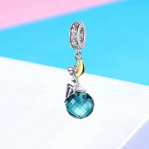 925 STERLING SILVER FAIRY PENDANTS NECKLACE JEWELRY
