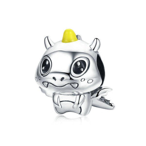 925 Sterling Silver Unicorn Dragon Pandora Compatible Bead Charm