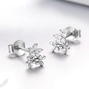 925 Sterling Silver Gypsophila Earings