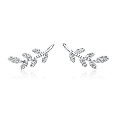 925 STERLING SILVER SPRING LEAF EARRINGS