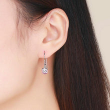 Load image into Gallery viewer, BAMOER PINK SAKURA EARRINGS JEWELRY FOR HER BSE039