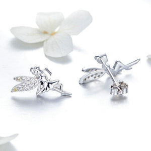 SPRING ELEVS 925 SILVER JEWELRY ZIRCON EARRINGS