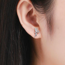Load image into Gallery viewer, SPRING ELEVS 925 SILVER JEWELRY ZIRCON EARRINGS