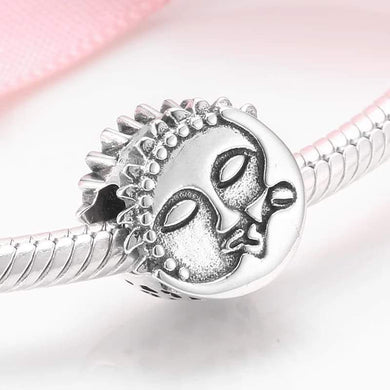 925 Sterling Silver Moon snd Sun Pandora Compatible Bead Charm