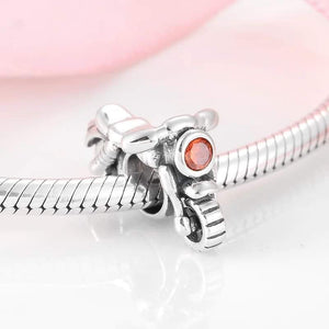 925 Sterling Silver Motorbike Pandora Compatible Dangle Charm