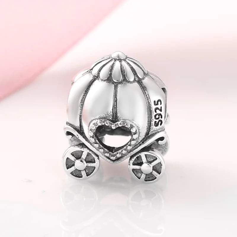 925 Sterling Silver Pumpkin Carriage Pandora Compatible Charm