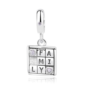 925 Sterling Silver Family Game Pandora Compatible Charm