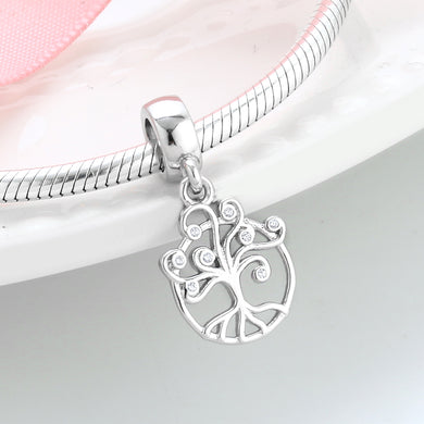 925 Sterling Tree of life CZ dangle Pandora Compatible Charm