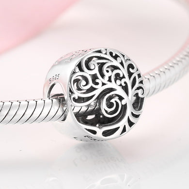 925 Sterling Silver Family is where LOVE Grows Bead Pandora Compatible Charm
